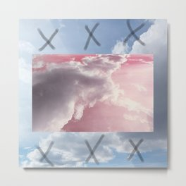 pink and blue sky Metal Print