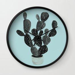 Monday blue cactus pricks Wall Clock