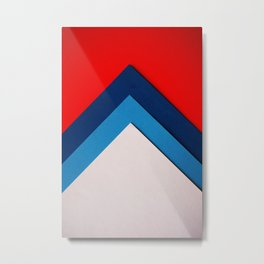 Red Blue White Geometric (Color) Metal Print