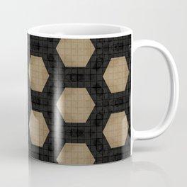 Textured Tan and Black Marble Geo Patterns Coffee Mug