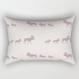Moose (Rustic) Rectangular Pillow