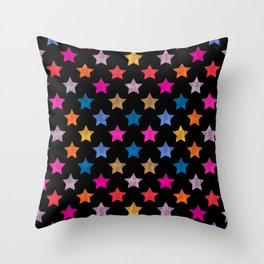 Colorful Star IV Throw Pillow