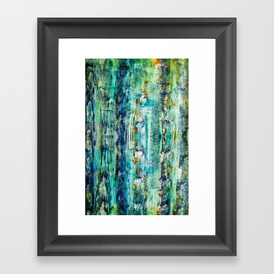 floating / blue Framed Art Print