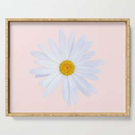 Daisy On Pink Serving Tray