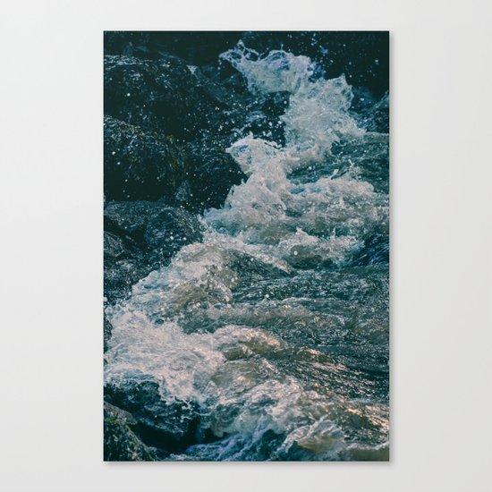 East River Bank - New York Canvas Print