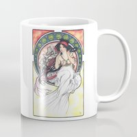mucha Mugs featuring Alfons Mucha Music by Puddingshades