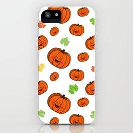The happy pumpkin iPhone Case