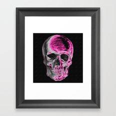 Pink Skull Framed Art Print