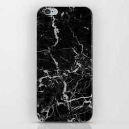 Marble Black Grunge texture iPhone Skin