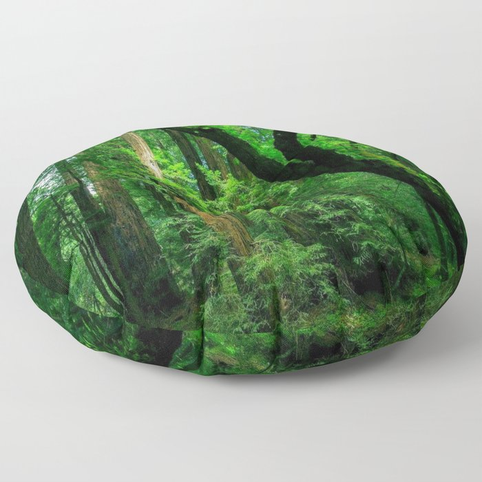 Enchanted forest mood II Floor Pillow