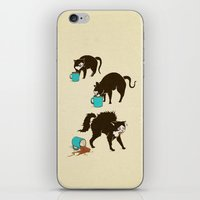 coffee iPhone & iPod Skins featuring Coffee Cat by Boots