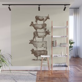 Cow Cow Nuts Wall Mural