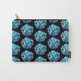 Green Blue Hydrangea Pattern Carry-All Pouch