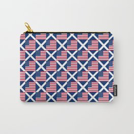 Mix of flag : usa and scotland Carry-All Pouch