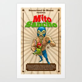 Mito & Sancho, sensacionales de la lucha libre Art Print