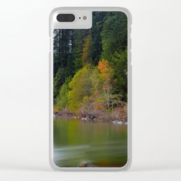 Autumn On Grizzly Creek Clear iPhone Case