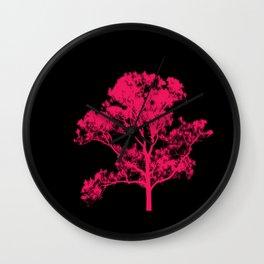 Pink Tree Wall Clock
