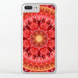 Crystal Fire Mandala Clear iPhone Case