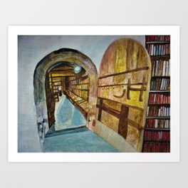 Baldwin's Book Barn interior door Art Print