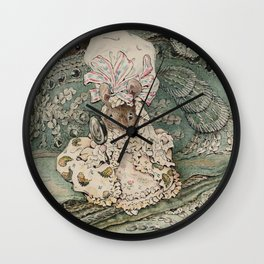 Cute little Mouse dressed up Wall Clock