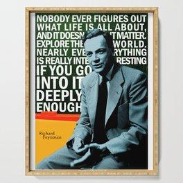 Richard Feynman Quote 1 Serving Tray