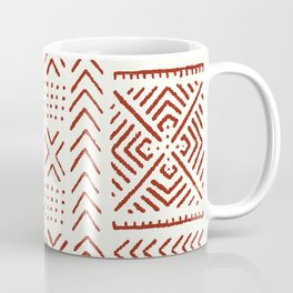 Line Mud Cloth // Ivory & Burgundy Coffee Mug