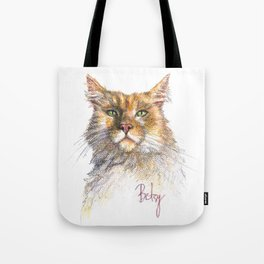 Digby the Red Torbi Siberian Cat Pet Portrait Tote Bag