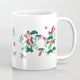 Green leaves & flowers Coffee Mug