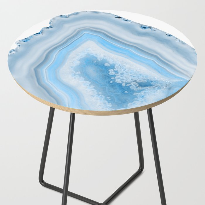 Soft Blue Agate Dream 1 Gem Decor Art Society6 Side