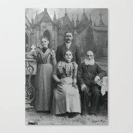 Dark Victorian Portrait Series: The Family Reunion Canvas Print