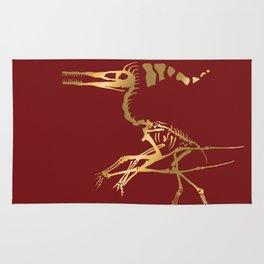 Scelet of the Christmas dragon Rug
