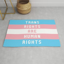 Trans Rights are Human Rights Rug