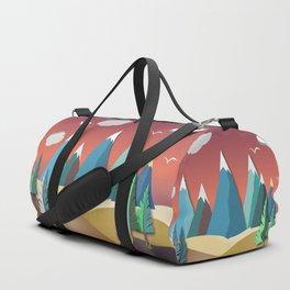 Mountain Landscape 2D Duffle Bag