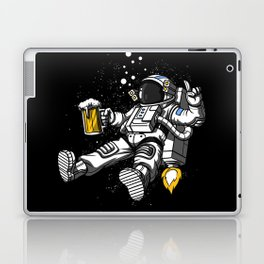 Astronaut Drinking Beer Space Party Laptop & iPad Skin