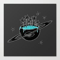 saturn Canvas Prints featuring Saturn by shoooes