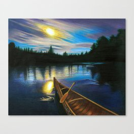 Midgard By Boat Canvas Print
