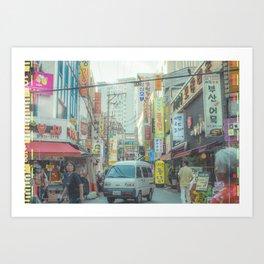 Busan Streets Art Print