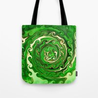 irish Tote Bags featuring Irish Green by Chris' Landscape Images & Designs