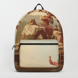 The Jolly Flatboatmen George Caleb Bingham Backpack