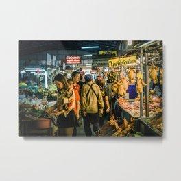 Market in Phitsanulok Metal Print