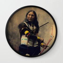 Shout At, Oglala Sioux, by Heyn Photo, 1899 Wall Clock