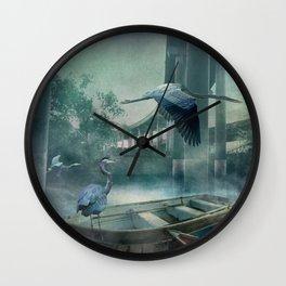 Morning in the Urban Marsh Wall Clock