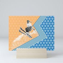Ski Like a Girl Mini Art Print