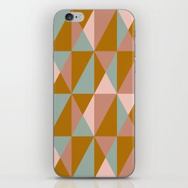 Modern Triangle Quilt Design in Subdued Earth Tones iPhone Skin