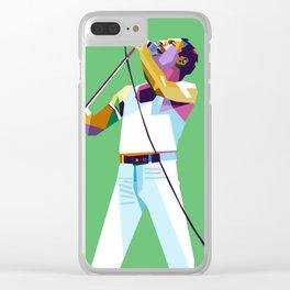 Freddie Queen Clear iPhone Case