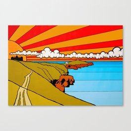 Newquay Headland Canvas Print