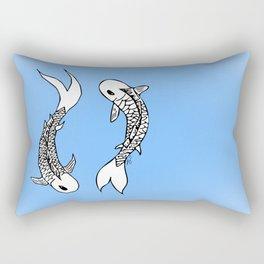 Koi Yin-Yang (V1) Rectangular Pillow