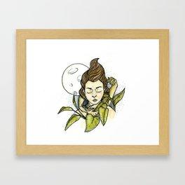 Moonlit Girl Framed Art Print