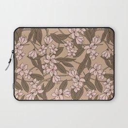 Sakura Branch Pattern - Pale Dogwood + Hazelnut Laptop Sleeve