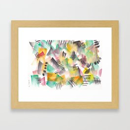 180803 August Abstract 10  Colorful Abstract   Watercolors Brush Patterns Framed Art Print